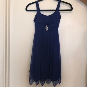 Fancy blue dress, size L for kids